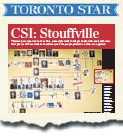 ??  ?? Justin Altmann made headlines in July when reports surfaced of a CSI-style wall in his office washroom.