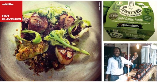 ??  ?? (clockwise from above), Food at Edo, a walk on the wildside & Flavour Safari's Michael Onalimi