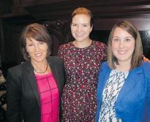 ??  ?? PCC staff and breakfast organizers Linda MacNaughton, left, Shannon de Vall and Kathleen Langer.