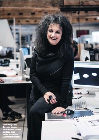 ??  ?? Odile Decq, l'une des rares femmes architectes reconnues, lauréate, cette année, du Lifetime Achievement Award.