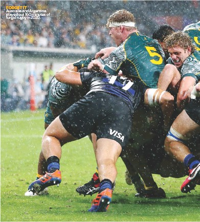??  ?? FORGET IT Australia and Argentina played out 160 minutes of turgid rugby in 2020.