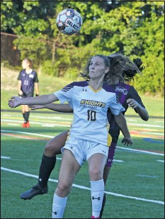 ?? PHOTO BY BILL GATES ?? Perry Hall grad Kara Dietrich led the NJCAA n scoring in helping lead CCBC Essex to the national tournamnt.