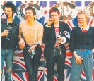 ??  ?? The Sex Pistols (from left) Sid Vicious, Steve Cook, John Lydon (aka Johnny Rotten) and Paul Cook.