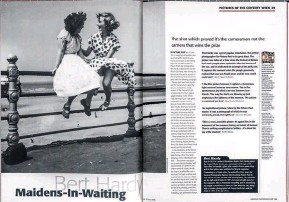 ??  ?? Bert Hardy's Maidens-in-Waiting: one of AP's 100 best pictures of the 20th century