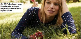 ??  ?? ON TREND: Joules says its sales since shops reopened have beaten expectations