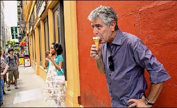 """?? Focus Features via Associated Press ?? Seen here on the road, celebrity chef, author and travel documentarian Anthony Bourdain is the subject of the Morgan Neville's new documentary """"Roadrunner."""""""