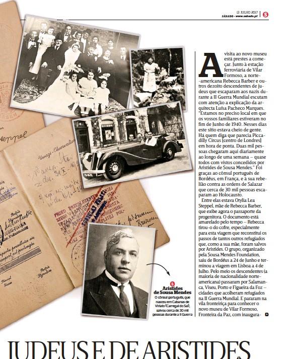??  ?? Aristides de Sousa Mendes O cônsul português, que nasceu em Cabanas de Viriato (Carregal do Sal), salvou cerca de 30 mil pessoas durante a II Guerra