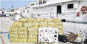 ?? (CMC) ?? The crew of the US Coast Guard Cutter Heriberto Hernandez (WPC1114) offloaded 62 bales of cocaine weighing 1,981 kilogrammes and one 28-kilogramme bale of amphetamines at Sector San Juan Oct. 2, 2020, following two separate interdictions of smuggling gofast vessels in the Caribbean Sea.