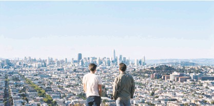 """?? Andrew Paynter ?? Ben Gibbard and Tycho, here atop San Francisco's Bernal Hill, collaborated on """"Only Love."""""""