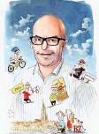 ?? Cartoon: Max Spring ?? Jürg Steiner schrieb letztes Jahr das Buch «Wohlfühloase Bern».