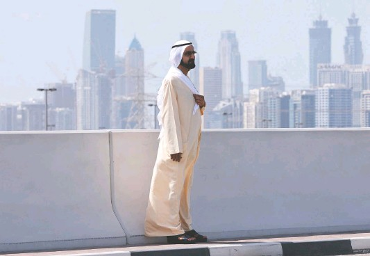 ?? GIUSEPPE CACACE/AGENCE FRANCE-PRESSE/GETTY IMAGES ?? Dubai's ruler, Sheikh Mohammed bin Rashid al-maktoum. After the February 2018 escape of his daughter Latifa, operatives entered her closest friends' and allies' numbers into a system that had also been used for selecting Pegasus surveillance targets. The princess was caught and returned to Dubai soon after.