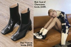 ??  ?? Dear Frances boots, $875. Rich Cast of Characters boots, $435.