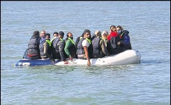 ?? Archive picture ?? Human trafficker­s are behind dangerousl­y loaded boats