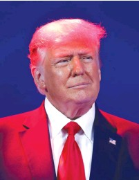 ?? (Octavio Jones/Reuters) ?? FORMER US President Donald Trump attends the Conservative Political Action Conference in Orlando, Florida, on Sunday.