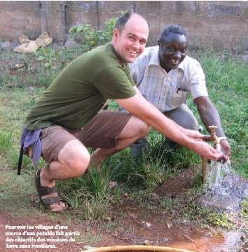 ??  ?? Pourvoir les villages d'une source d'eau potable fait partie des objectifs des missions de Terre sans frontières.