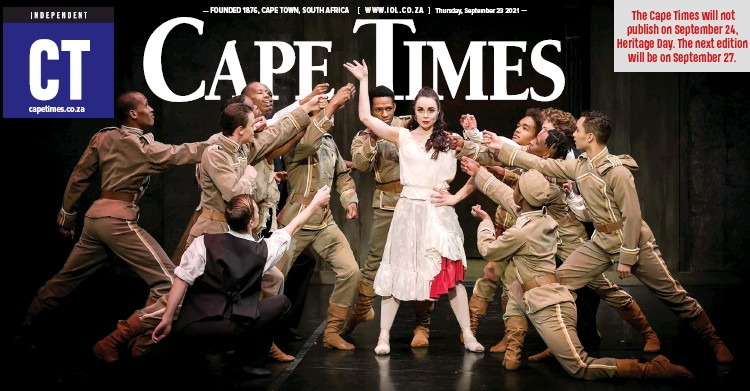 ??   DANIE COETZEE ?? THE Cape Town City Ballet's production of Veronica Paeper's CARMEN will return to the Artscape Theatre for seven performances. Carmen, played by Leanè Theunissen, pictured, is a fiery gypsy girl who mesmerises and seduces a young soldier, Don Jose. He gives up everything for her, abandoning his childhood sweetheart and deserting his military duties. However, Carmen's free spirit will not be tamed and her unfaithfulness to him leads to tragic results. It will be presented from September 28 until October 2 for seven performances. Tickets are available at Computicket.