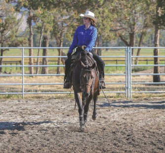 """??  ?? COUNTING BLESSINGS: """"I have been so richly blessed with my husband and my family and my horse life and where we live,"""" says Donna Kamstra."""