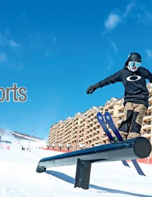 ??  ?? On December 11, 2019, a skiing enthusiast at Genting Resort Secret Garden.