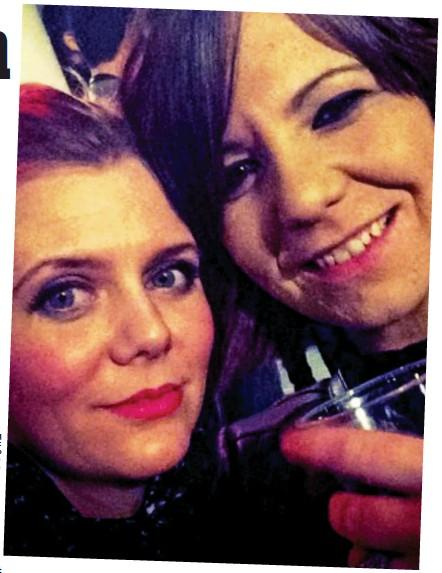 ??  ?? Before the horror: Mariesha Payne, left, and Christine Tudhope at the Bataclan on Friday night