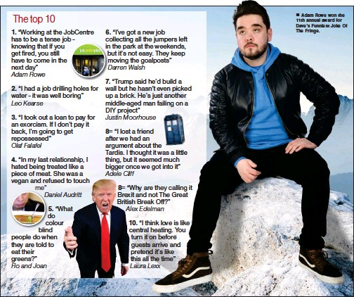 Pressreader The Herald 2018 08 20 Top 10 Jokes Of The Fringe