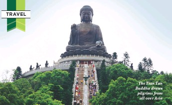 ??  ?? The Tian Tan Buddha draws pilgrims from all over Asia