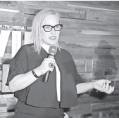 ?? JOE SCARNICI, GETTY IMAGES, FOR FIJI WATER ?? Patricia Arquette has plenty to say about equal pay in Hollywood at the annual Los Angeles Women in Film cocktail party Friday.