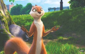 ?? OPEN ROAD FILMS ?? Katherine Heigl voices Andie, an industrious squirrel who models the rodent work ethic, in this animated man-vs.-nature fable.