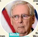 ??  ?? Mitch McConnell,