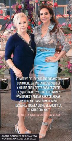 ??  ?? GLORIA GONZÁLEZ DE DE LA VEGA Y CYNTHIA OATES DE DE LA VEGA