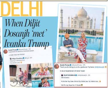 When Diljit Dosanjh Met Ivanka Trump Pressreader