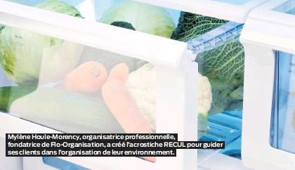 ??  ?? Mylène Houle-Morency, organisatrice professionnelle, fondatrice de Flo-Organisation, a créé l'acrostiche RECUL pour guider ses clients dans l'organisation de leur environnement.