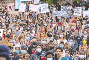 ?? GAVIN YOUNG FILES ?? Thousands filled Olympic Plaza in Calgary for a Black Lives Matter rally on June 6. The movement was sparked by the death in police custody of George Floyd on May 25.