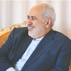 """?? OHANNES eisele / AFP VIA GETTY IMAGES FILES ?? Mohammad Zarif, foreign minister of Iran, has been dubbed the """"Ribbentrop of Iran"""" by victims of PS752."""