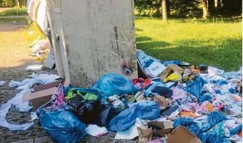 """?? Foto: Polizei (Archiv) ?? Dass illegal Müll entsorgt wird, kommt in der Region immer wieder vor. Bisweilen wird der Unrat auch vor den Recyclinghöfen de‰ poniert. Dieser wurde bislang immer gleich von den Mitarbeitern beseitigt. Künftig aber soll der """"wilde Müll""""dort liegen bleiben – die Verantwortlichen erhoffen sich eine abschreckende Wirkung."""
