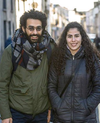 ?? Picture: Dan Linehan ?? Aram Wahhoud and his sister Marwa from Syria who are now living in Lismore, Co Waterford, as part of the Community Sponsorship Programme run by the Department of Justice.