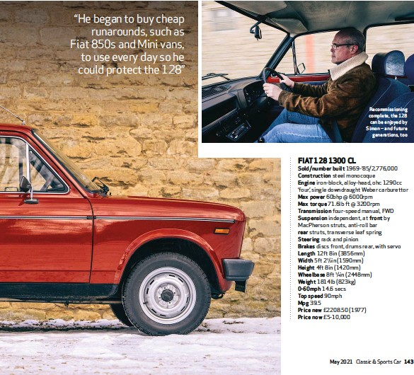 ??  ?? Recommissioning complete, the 128 can be enjoyed by Simon – and future generations, too