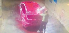 ?? Picture: Titanium Car and Dog Wash Bunbury/Facebook ?? An alleged carwash chemical thief hashad a rude awakening after being literally caught red-handed.