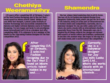 Pressreader Daily Mirror Sri Lanka 2012 12 14 Zainab Ammarah Sri Lanka S Up Coming Fashion Designer Of The Year