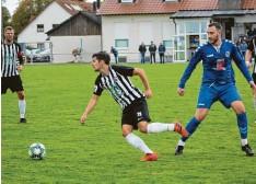 ?? Foto: Wilhelm Baudrexel ?? So sehr sich Daniel Deppner und der TSV Meitingen auch mühten – beim VfL Ecknach reichte es nur zu einem enttäuschenden o:0.