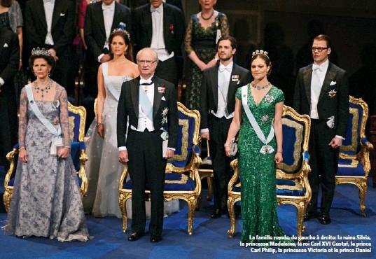 ??  ?? La famille royale, de gauche à droite: la reine Silvia, la princesse Madeleine, le roi Carl XVI Gustaf, le prince Carl Philip, la princesse Victoria et le prince Daniel