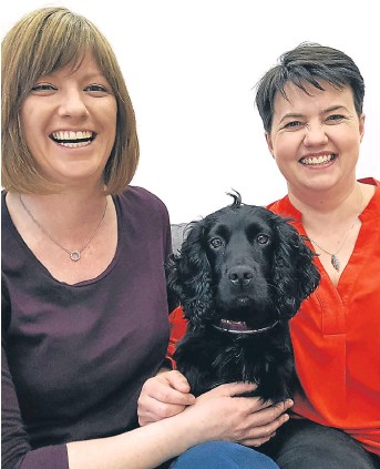 ??  ?? FAMILY: Scots Tory leader Ruth Davidson, right, and her partner Jen Wilson are 'overjoyed'