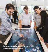 ??  ?? Garamantis Showroom in Singapur mit Multitouch-Scanner-Table.
