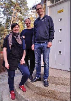 ?? KIM LUND ?? INITIATIVTAGARE. Anna Franzén, Matilda Åberg och Kaj Arnö vill sprida information om Nagu på svenska på Wikipedia.