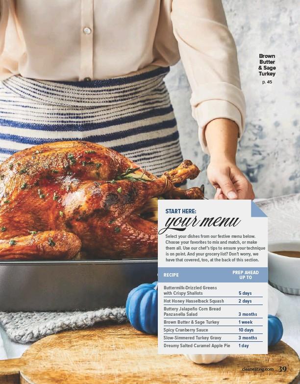 ??  ?? Brown Butter & Sage Turkey p. 45