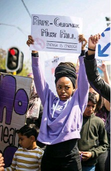 ??  ?? Though several women have claimed that Jacob Zuma tried to rape them, it is on the watch of his successor Cyril Ramaphosa that women's anger against a wider rape culture has exploded into street protests