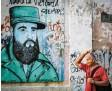 ?? Foto: dpa ?? Fidel Castro ist auch heute noch allge‰ genwärtig auf Kuba – und sei es als Graf‰ fito.