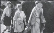 ??  ?? Philip, second from left, taking part in an historical pageant in 1933
