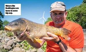??  ?? Waters like Boddington are home to some big carp.