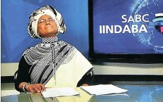 ??  ?? Grootboom was overcome with emotion as she said farewell to SABC viewers after her last isiXhosa news bulletin on March 30. President Cyril Ramaphosa delayed his national address by 30 minutes to allow viewers to share in the moment.