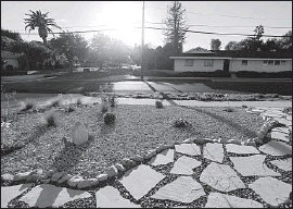 ?? Michael Robinson Chavez Los Angeles Times ?? DORIAN CASTILLO designed the drought-tolerant landscaping at her Granada Hills house. The average residential rebate totals about $3,000, the MWD says.